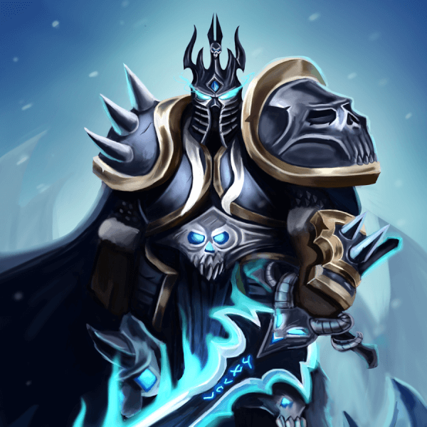 Here's a painting of Arthas Menethil, the Lich King from Warcraft! To celebrate 10 years of Wrath of the Lich King and the Warcraft 3 Reforged!