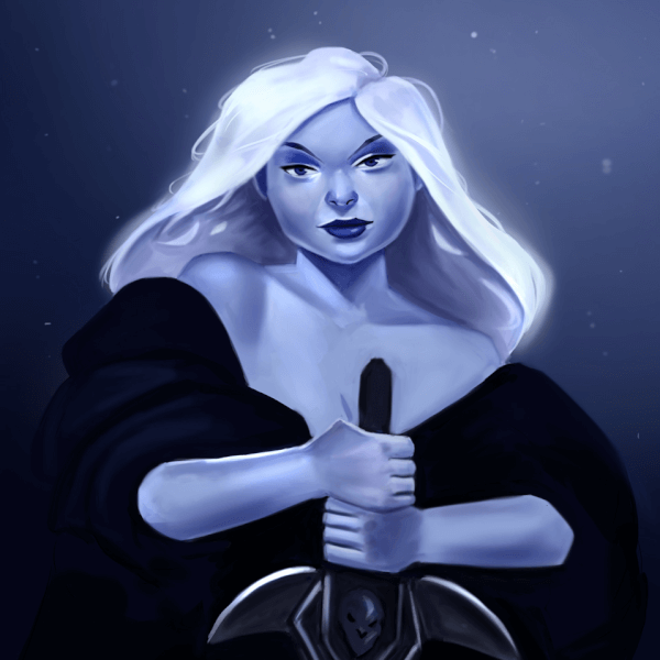 Here's a new painting of a Death Knight Lady!