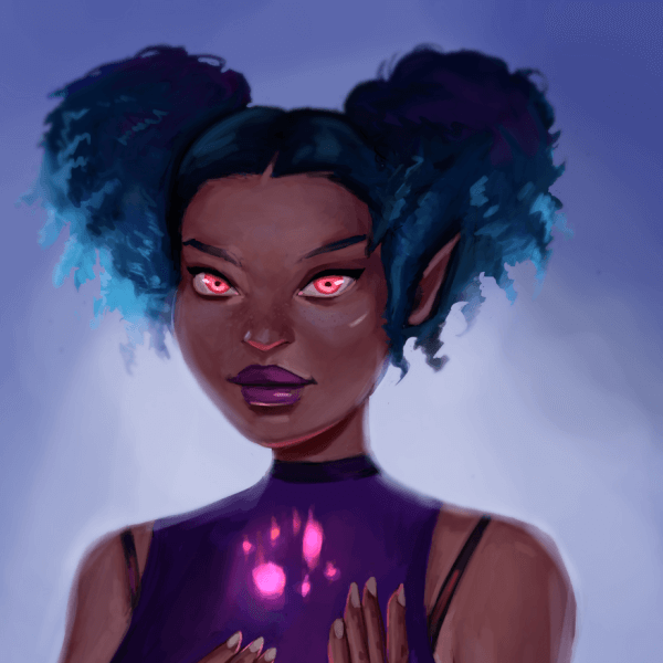 Here's a #DrawThisInYourOwnStyle Painting! It's inspired by Loish! She's a super amazing artist!