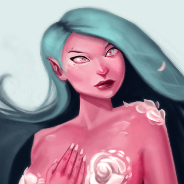 Here's a #DrawThisInYourOwnStyle Painting! It's inspired by Mioree! She's a super amazing artist!