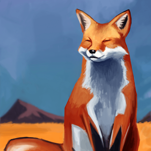 Here is a fox painting! Foxes are amazing, want to paint them more!