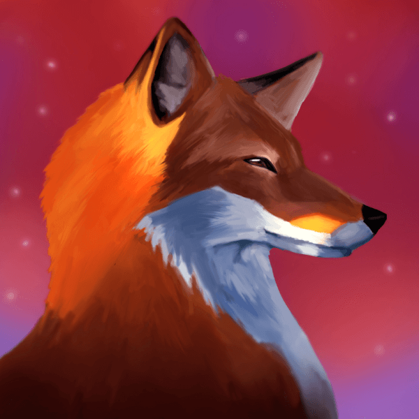 Here is another painting of a fox!