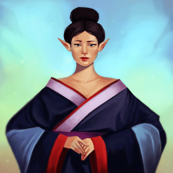 Here's a new painting of a Geisha!