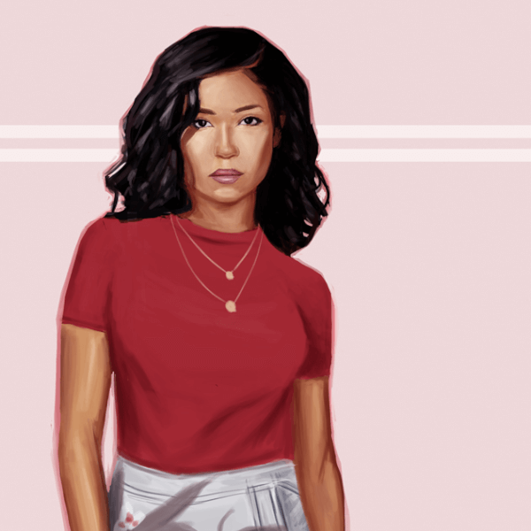 "Here is a digital fanart painting of Jhene Aiko! I love her music and got inspired by her new album ""Trip""!"