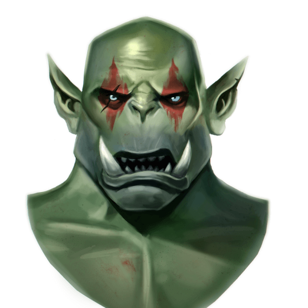 Here's a portrait painting of an orc! Inspired by World of Warcraft! Loved playing the new Expansion Battle for Azeroth.