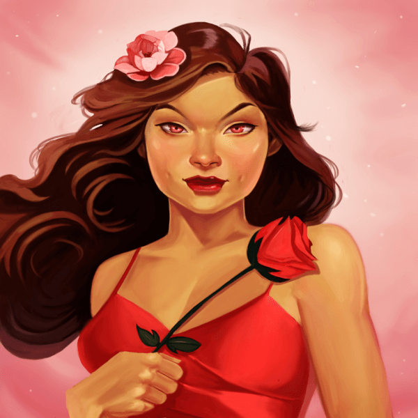 Here's a new portrait! A rose from rose.