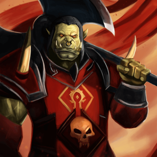 Here's a painting of Saurfang from World of Warcraft!