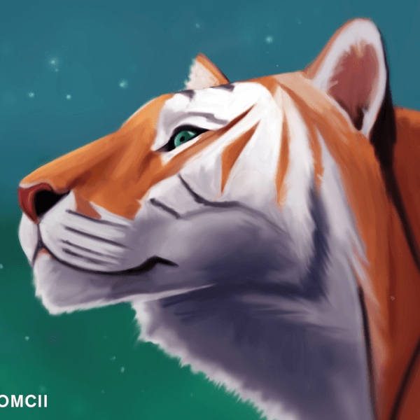 I love painting Tigers! Here's a new one. Their colors and stripes are amazing.