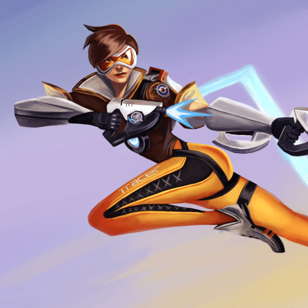 Here's a new painting of Tracer from Overwatch!