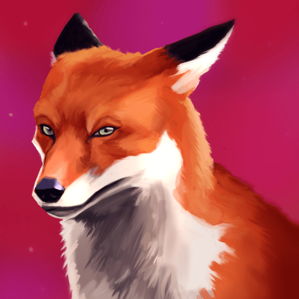 Here is another Fox Painting! Foxes are very fun to paint, with their funny faces and colors.